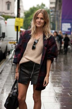 London fashion week street style spring/summer '14.
