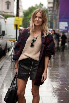 London fashion week street style spring/summer '14.