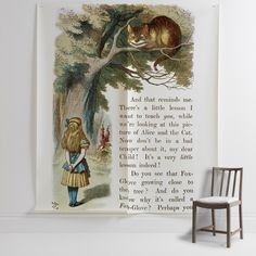 'The Cheshire Cat II' Mural - The British Library, from £210 at surfaceview.co.uk