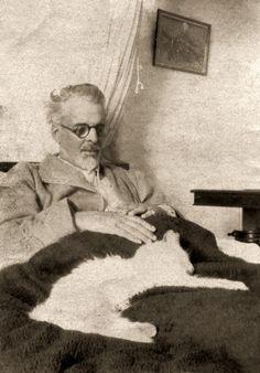 w.b. yeats. Fine Irish poet and cat lover.