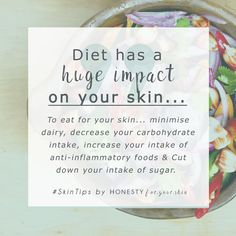 We are what we eat and our skin knows it *winks*. So if you are suffering from a nagging skin compl,aint like spots, acne, rosacea, psoriasis, how can you take control of your diet to improve them? These are the 4 key diet changes that effect skin... http://wp.me/p6LuQS-OC