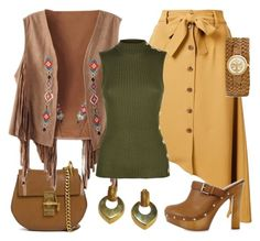 The grass was greener by glirendree on Polyvore featuring moda, Balmain, Tome, Dsquared2, Chloé, Tory Burch and Givenchy