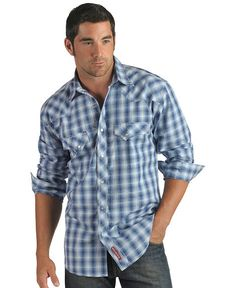 Red Ranch Multicolored Plaid Snap Front Shirt