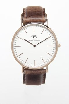 Weathered leather watch strap