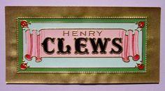 Vintage Original Cigar Label Henry Clews Brand $2.50 by antiquelove22