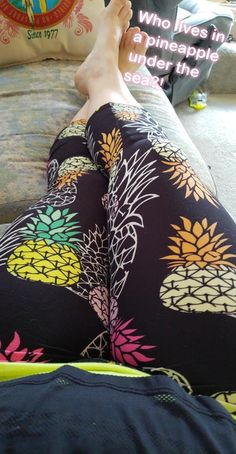 "Jamie is relaxing in one of Vahl's ""Pineapple"" leggings print. To find this print, go to Vahl and search for ""pineapple"" or just use ""leggings"" to take a look at all the cute prints available! Pakistani Mujra, Pineapple Leggings, Curvy Girl Fashion, Womens Fashion, Cute Instagram Pictures, Makeup Eye Looks, Sexy Legs And Heels, Beautiful Girl Indian, Beauty Full Girl"