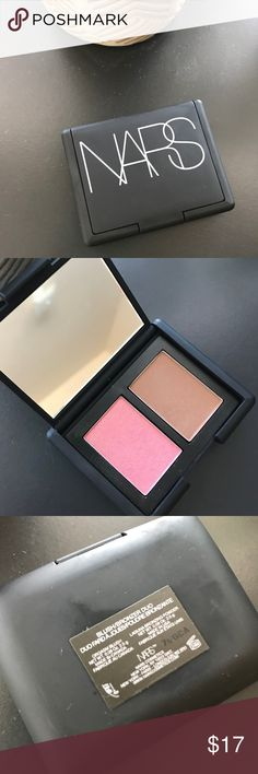 NARS Blush/Bronzer Duo Mini NARS Blush/Bronzer Duo Mini I bought this like a month ago and used it once. This blush/bronzer is too light for my skin. I have Sanitized this makeup for cleanliness. Blush is the Orgasm and bronzer is Laguna. I don't have the box anymore. NARS Makeup Blush