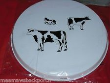 Black White Cow Family burner covers White Cow, Black White, Electric Stove Burner Covers, Cow Ornaments, Decorative Plates, Tableware, Ebay, Black And White, Dinnerware