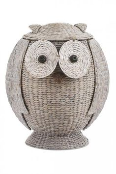 Kids Owl Hamper ... so cute! They also have a white elephant hamper. | Home Decorators
