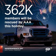 AAA will rescue more than 362,000 motorists this #IndependenceDay, with dead batteries, lockouts and flat tires the top reasons. Do you have your AAA membership ready in case of a breakdown? AAA.com/Join Flat Tire, Summer Travel, Amazing Destinations, Independence Day, Summertime, National Parks, Join, Vacation, Diwali