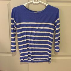 JCrew stripe shirt Great for cool summer nights! J. Crew Tops Tees - Long Sleeve
