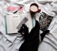 """buttermybooks: """" Someone decided to interrupt my photo and I cant even be mad about it. """"bookmarks by bookmadbookmarks """" """""""