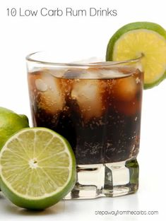 These low carb rum drinks are all sugar free and keto friendly. Plus a new recipe for Basil Lime Fizz!