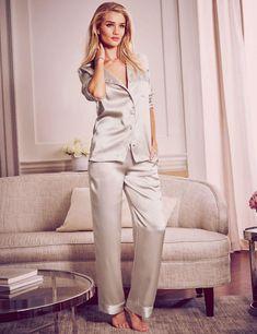 rosie-huntington-whiteley--marks-spencer silk pyjamas