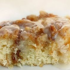 Cinnamon Roll Cake from scratch. I already have the ingredients