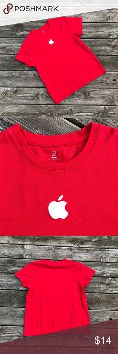 Apple Store Logo SS Tee Shirt Like new Apple Store Logo SS Tee Shirt. This is super cool and perfect for the apple freak. apple Tops Tees - Short Sleeve