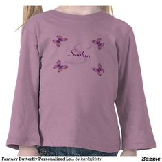 Fantasy Butterfly Personalized Long Sleeve Tee