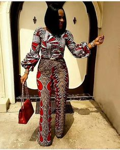 Online Hub For Fashion Beauty And Health: Coperate Ankara Jumpsuit Design For Smart Ladies