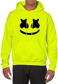 Buy More & More Unisex Regular Fit Printed Hooded Neck Cotton Hoodie (Neon Green, 2XL) at Amazon.in