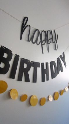 happy birthday banner contemporary design cursive by bigkidbanner