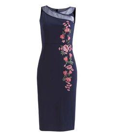 Look what I found on #zulily! Navy Floral Juliet Dress #zulilyfinds