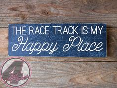 The race track is my happy place! Now available from 4 Left Turns. #racing #handmade