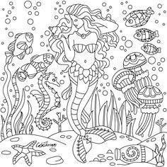 #underwater #mermaid | Color Therapy app