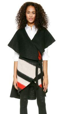 alice + olivia Keira Striped Vest  