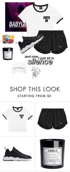 """""""Dappin"""" by iamcece854 ❤ liked on Polyvore featuring NIKE, H&M and Balenciaga"""