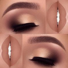 After applying an eyeliner and an eye shadow, make sure they are highlighted with a mascara or artificial lashes. Artificial lashes can be permanent (lasting almost a month) or one time lashes. 31 Pictures of Eyeliner and Eye Shadow Makeup Ideas
