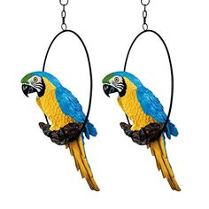 Design Toscano Polly in Paradise Parrot Sculpture on Ring Perch Set of 2 Medium ** You can find out more details at the link of the image. (This is an affiliate link and I receive a commission for the sales)