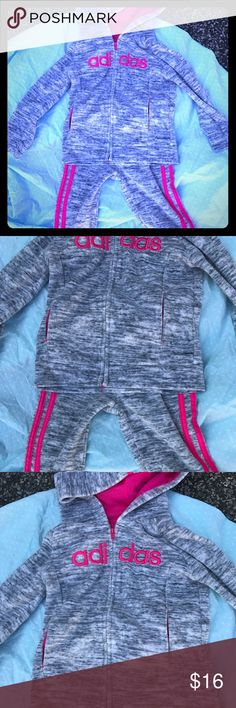 Adidas matching zip up hoodie and track pants Brand new and perfect for fall 2017, your little girl will be comfortable and athletic in this awesome brand new matching track suit adidas Matching Sets