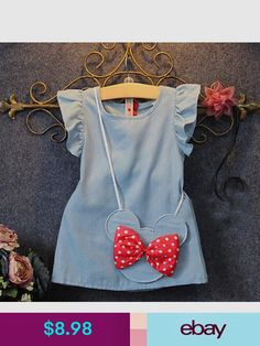 2016 Baby Toddlers Kids Girl Solid Dress Minnie Mouse Sleeveless Bag Ruffles Demin Casual Dresses - Baby Girl Dress - Ideas of Baby Girl Dress - 2016 Baby Toddlers Kids Girl Solid Dress Minnie Mouse Sleeveless Bag Ruffles Demin Casual Dresses Buy it Now! Dresses Kids Girl, Cute Dresses, Kids Outfits, Casual Dresses, Party Dresses, Casual Clothes, Summer Clothes, Cheap Dresses, Dress Girl