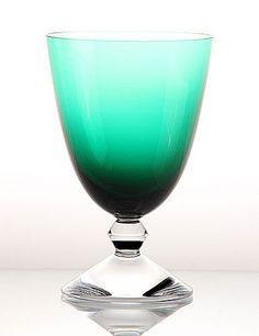 Baccarat Vega Water Glass, Emerald