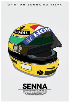 Senna Helmet by Daniel Cruz, via Behance