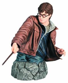 Gentle Giant Studios Harry Potter and The Deathly Hallows: Harry Potter Mini-Bust by Gentle Giant Studios. $80.00. Based on Daniel Radcliffe's digitally scanned likeness. A Gentle Giant release. 1:6 scale. Includes Certificate of Authenticity. Invdividually numbered. From the Manufacturer                A Gentle Giant Release. The tale of The Boy Who Lived races to its epic conclusion in The Deathly Hallows, the final installment of J.K. Rowling's masterpiece. At sevent...