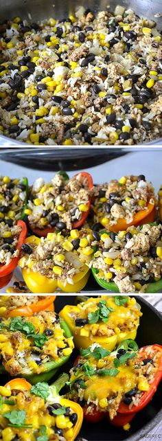 Quick & easy dinner tonight - Southwestern Stuffed Peppers | SageRecipes.com