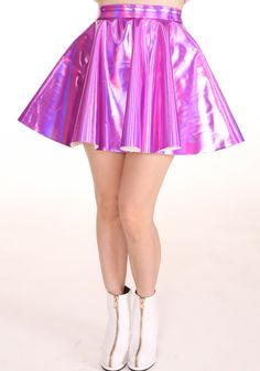 Image of Made To Order - Pink Holographic Circle Skirt