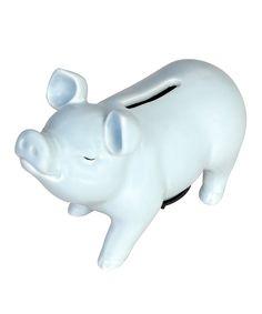 Love this Powder Blue Piggy Bank by Established 98 on #zulily! #zulilyfinds