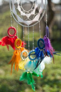 Large dream catcher Chakra dream catcher Yoga by MysteriousForests