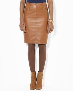 Okay. I give up. Somebody find me a brown leather skirt in a ...