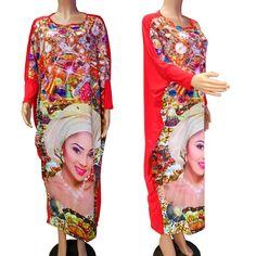 2016 Promoção Poliéster Africano Vestidos de 2017 Novo Estilo Moda Mulheres Roupas de Impressão Africano