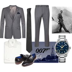 From Russia with Love by thegypsyguild on Polyvore featuring Armani Collezioni, Ted Baker, OMEGA, Versace, men's fashion and menswear