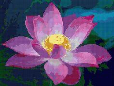 Cross Stitch | Lotus xstitch Chart | Design