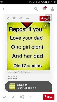 I don't like these kind of things. My dad died when I was 6 and I am now 12. I hate that ppl bring crap up like this