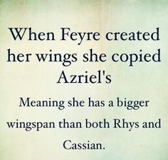 So... Feyre has the biggest wingspan... wow