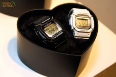 "G-Shock Lover's Collection 2016; The LOV-16B-1JR set features a classic black G-Shock DW-D5600LD-1 and a white Baby-G BGD-501LD-7. Both watches include wire ""bull bar"" face protectors."