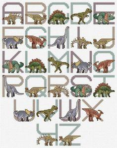 ABC De Dinosaurios En Punto Cruz  Pinterest
