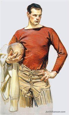 Football player 1913.  Joseph Christian (J.C.) LEYENDECKER - Illustrator