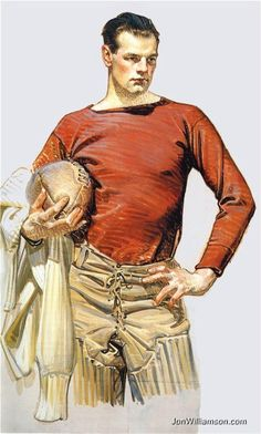 Football player 1913.  Joseph Christian (J.C.) LEYENDECKER - Illustrator
